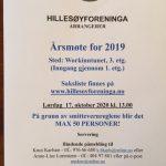 ÅRSMØTE 2019 AVHOLDES 17.10.2020